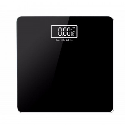 OS Precision Classic Black Digital Weighing Scale With Room Temperature Dual Purpose Home Use